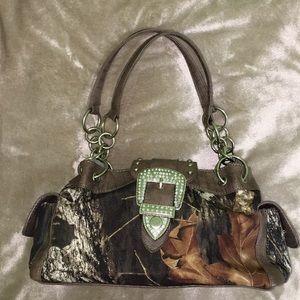 Handbags - Camo Handbag Cute with Bling